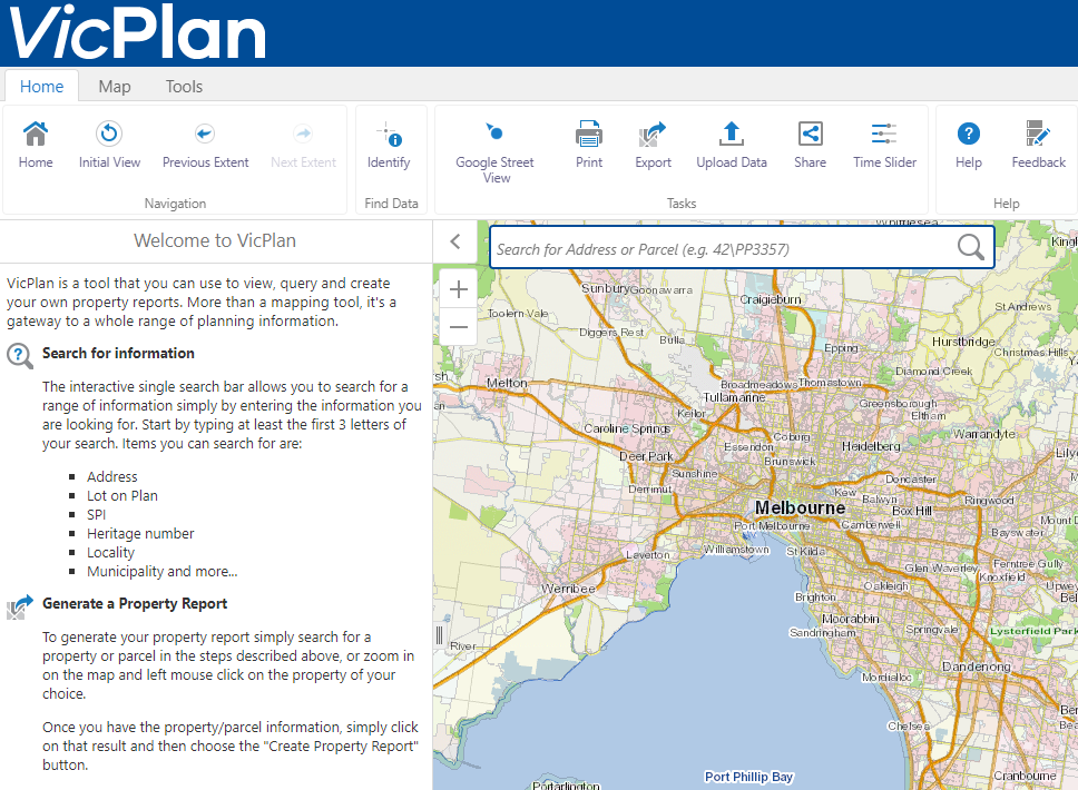 VicPlan website