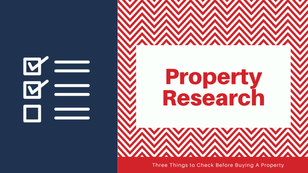 Researching Property, a checklist
